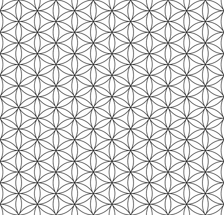 hexagonal pattern:  Seamless op art texture  Circles and hexagons pattern  Vector art
