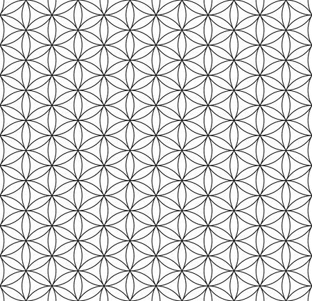repeatable:  Seamless op art texture  Circles and hexagons pattern  Vector art