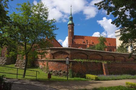 14th century:  The st Jacek Church  14-th century  in Slupsk, Poland