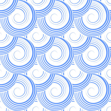 Seamless pattern with spiral circle elements  art  Illustration