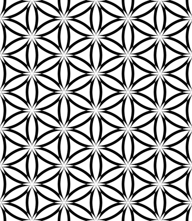 latticed: Seamless latticed pattern  Lacy circles and hexagons texture  Vector art