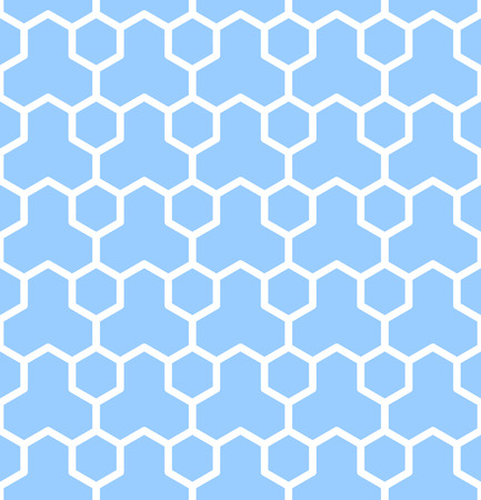 hexagonal pattern: Seamless geometric texture. Blue hexagons pattern.  Illustration