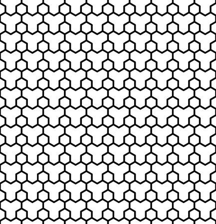 latticed: Seamless geometric hexagons pattern. Latticed texture.