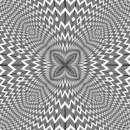 Abstract backdrop with optical illusion effect.