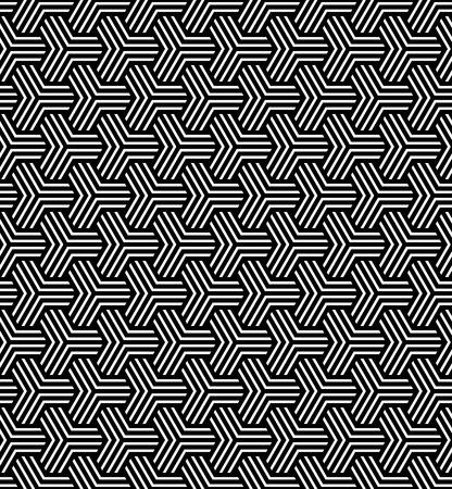 Seamless geometric op art pattern. Vector art. Vector