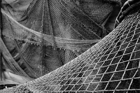 fishing tackle: Old fishing nets.