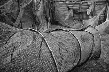 holed: Old fishing nets.