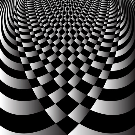 op: Abstract op art design. Vector art. Illustration