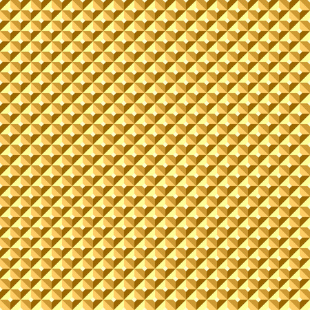 architectonic: Seamless golden geometric relief texture. Vector art.