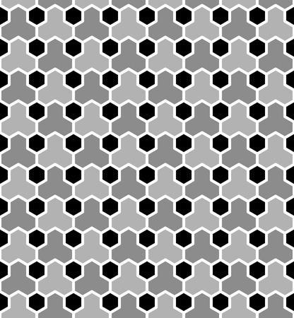 web2: Hexagons tiled pattern. Seamless geometric texture. Vector art. Illustration