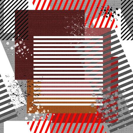 spattered: Seamless grunge textured background. Illustration.