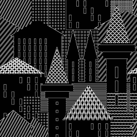 townscape: Town. Abstract architectural background. Illustration.