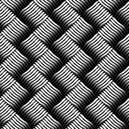 interweaving: Seamless checked interlacing texture. Vector art.