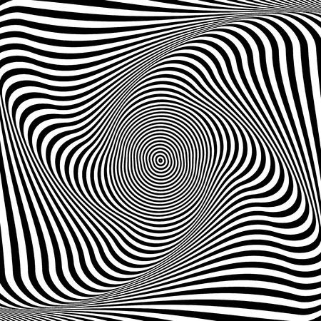 torsion: Torsion illusion. Abstract op art background. Vector art.