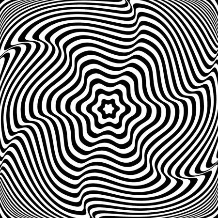 Illusion of  rotation movement. Abstract op art illustration. Vector art. Illustration