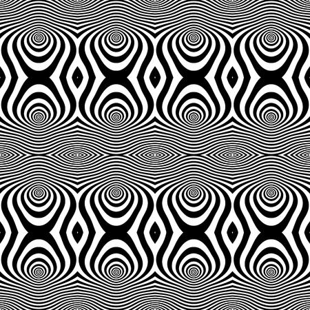 op: Seamless op art pattern. Vector art.