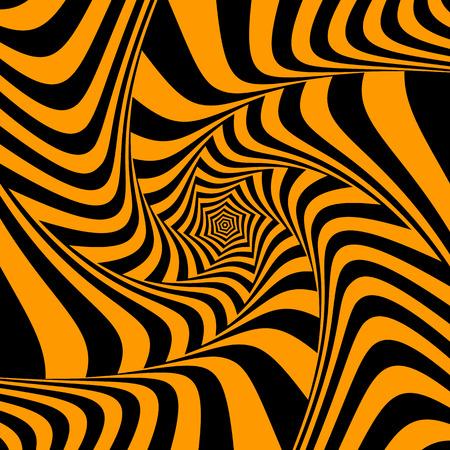 torsion: Illusion of torsion movement. Abstract design. Vector art.