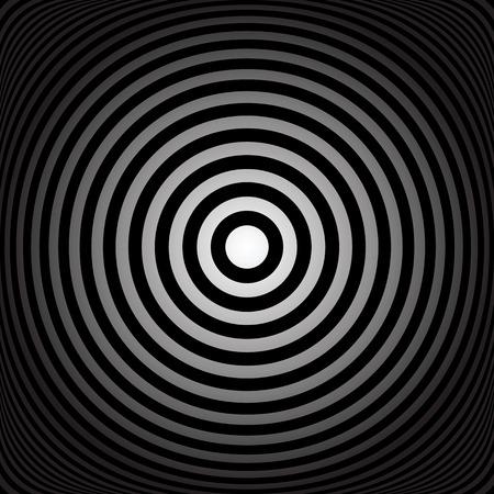 circulos concentricos: Anillos concéntricos. Círculos Resumen de textura. Vector el arte.