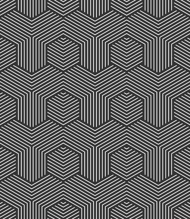 repeatable: Seamless hexagons pattern. Geometric texture. Vector art.