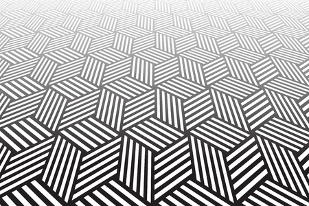 tiled: Tiled textured surface. Abstract geometric background. Vector art.