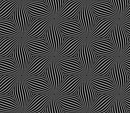 Seamless op art pattern. Vector art. Vector