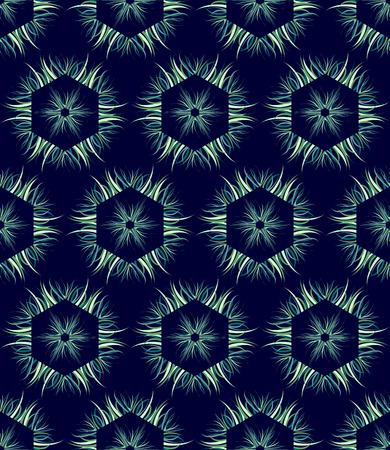 algal: Seamless hexagons pattern. Vector art.