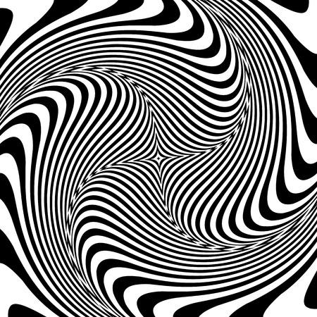 torsion: Torsion illusion. Abstract op art design. Vector art.