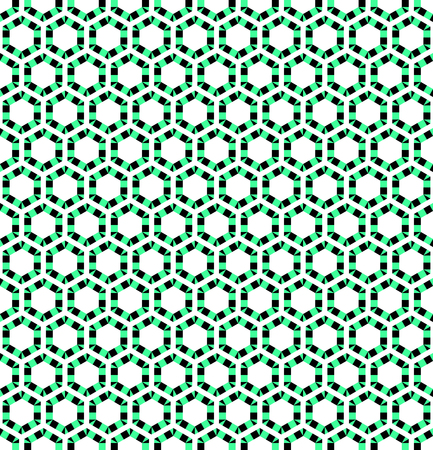variegated: Seamless hexagons texture. Vector art.