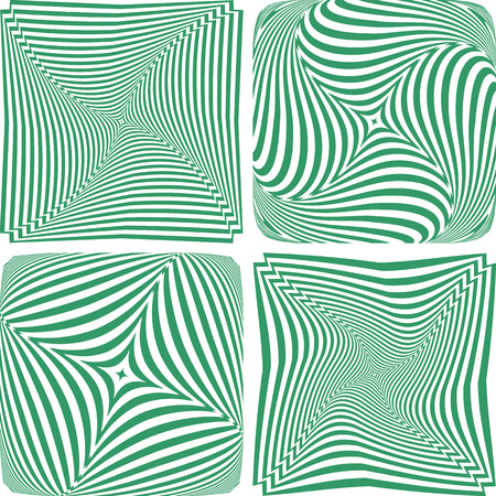 twisting: Rotation and twisting. Abstract designs set. Vector art.