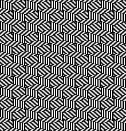 op: Seamless geometric texture. Op art pattern. Vector art.