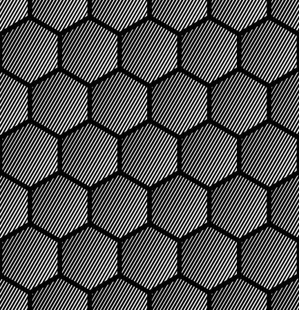 web2: Hexagons pattern. Seamless geometric texture. Vector art.