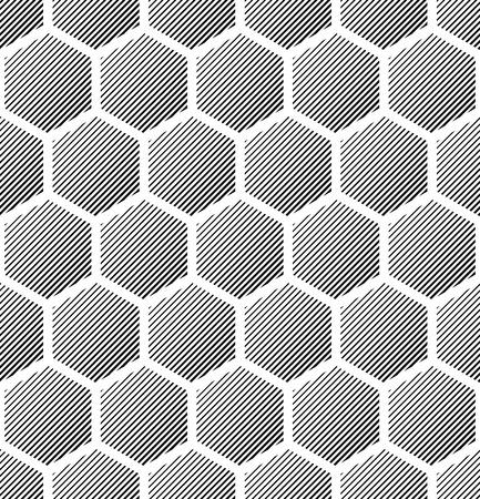 Hexagons pattern. Seamless geometric texture. Vector art. Vector
