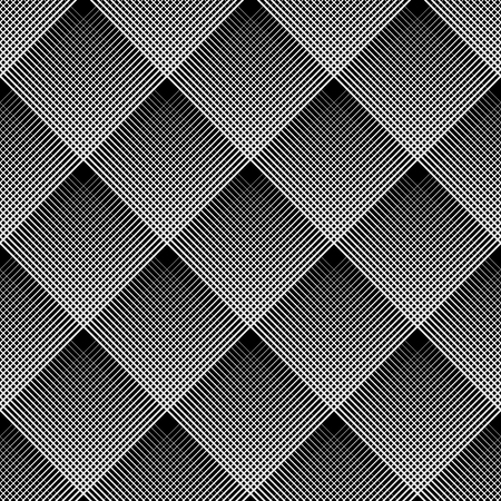 Diagonal checked pattern. Seamless geometric texture. Vector art.