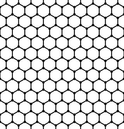 latticed: Hexagons pattern. Seamless geometric latticed texture. Vector art. Illustration