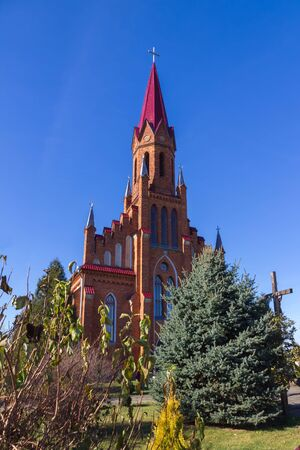 gothic revival: Catholic Church in Gothic Revival style in Stolovichi Stolowiczy Belarus.