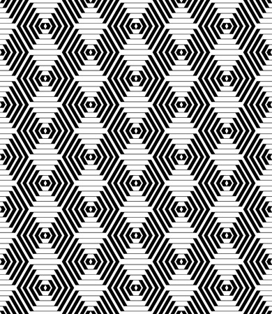 diamonds pattern: Hexagons and diamonds pattern. Seamless geometric texture. Vector art.