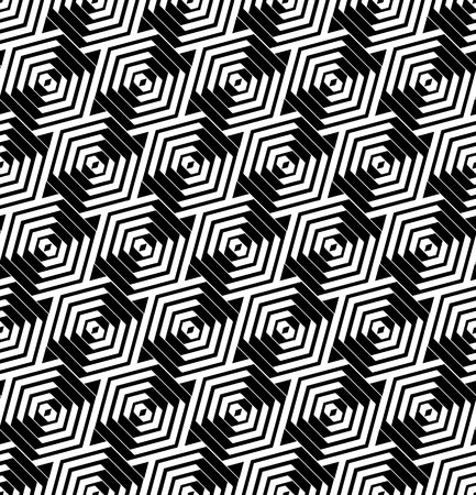 hexagonal pattern: Seamless hexagons pattern.