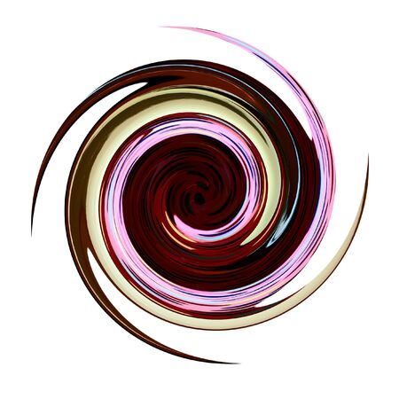 blowup: Spiral twisting rotation. Abstract illustration.