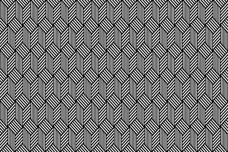 iteration: Op art pattern. Seamless geometric texture. Vector art.