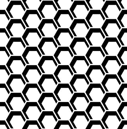 iteration: Honeycomb pattern. Seamless hexagons texture. Vector art.