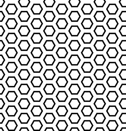 iteration: Seamless hexagons texture. Honeycomb pattern. Vector art.