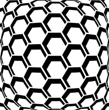 illusion: Geometric hexagons pattern. Abstract textured background.