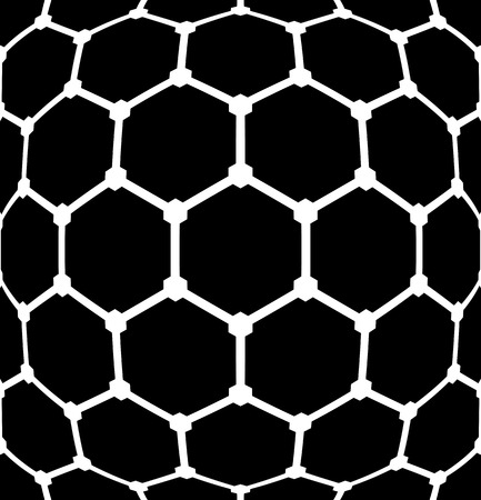 globular: Geometric latticed hexagons pattern. Abstract textured background.