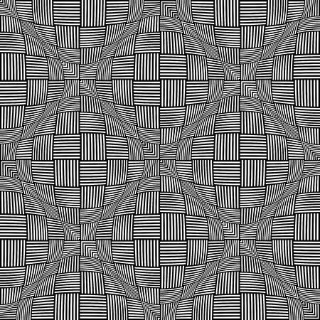 twisting: Seamless twisting checkered pattern. Illustration