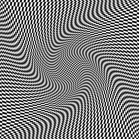 op: Op art twisting texture. Abstract flexible surface.