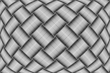 convex shape: Op art checkered pattern. Abstract textured geometric background.