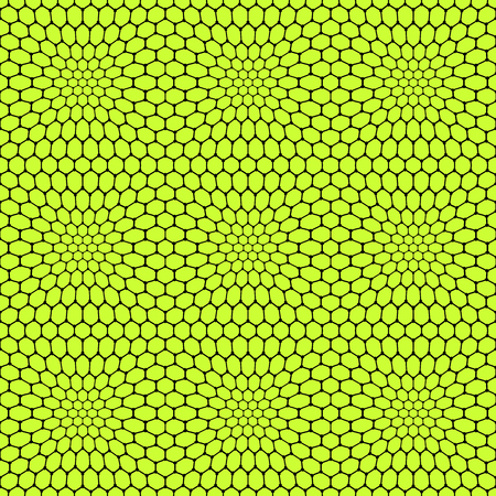curve line: Seamless reticulate pattern with hexagonal cells. Vector art.