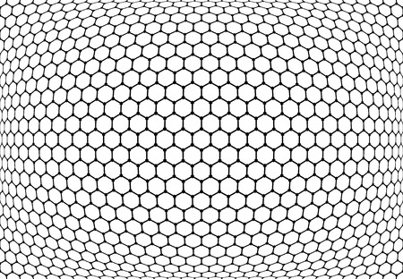 black circle: Hexagons pattern. Abstract textured latticed background. Vector art.