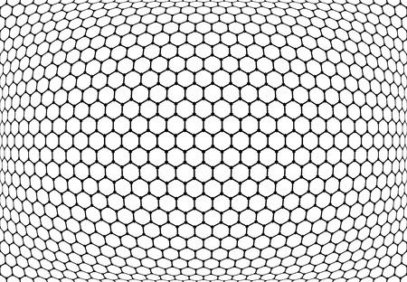 latticed: Hexagons pattern. Abstract textured latticed background. Vector art.