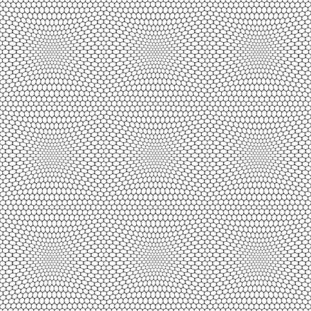 meshy: Seamless reticulate pattern with hexagonal cells. Vector art.